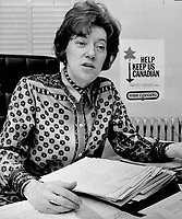 Flora MacDonald won a landslide victory for the Tory nomination in Kingston by drawing on women supporters, <br /> <br /> Griffin, Doug<br /> Picture, 1971
