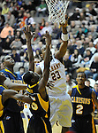 13 December 2008: Albany's Tim Ambrose lays in two of his game-high15 points in a game between Canisius and Albany won by Albany 74-46 at SEFCU Arena in Albany, New York.