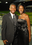 Wesley Wright and Sherell Murray at the Astros Wives Gala at Minute Maid Park Thursday Aug. 06, 2009.(Dave Rossman/For the Chronicle)
