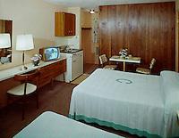 Crown Motel, Wildwood, NJ. 1960's Motel Room with Black & White TV
