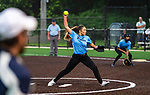 WATERBURY, CT 071321JS10  WCA took on the NVL Lightning in Joan Joyce softball league action Tuesday at Municipal Stadium in Waterbury. <br />  Jim Shannon Republican American