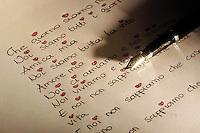 Lettera d' amore. .Love letter. ...
