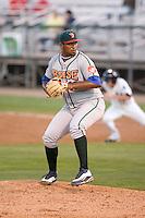 August 6, 2010: Boise Hawks righthanded pitcher Larry Suarez (#30) during a Northwest League game against the Everett AquaSox at Everett Memorial Stadium in Everett, Washington.
