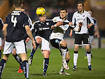 Dundee v St Johnstone…12.02.16   SPFL   Dens Park, Dundee<br />Paul McGowan and Graham Cummins<br />Picture by Graeme Hart.<br />Copyright Perthshire Picture Agency<br />Tel: 01738 623350  Mobile: 07990 594431