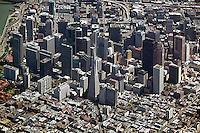 aerial photograph Transamerica Pyramid, Embarcadero Center, San Francisco, California