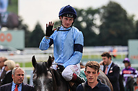 9th September 2021; Doncaster Racecourse, Doncaster, South Yorkshire, England;   St Leger Ladies Day; Harrow ridden by Oisin Murphy wins the 14:10 Weatherbys Scientific 200,000 2-Y-O Stakes.