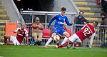 26.02.2020 SC Braga v Rangers: Ianis Hagi beats Raul Silva and David Carmo