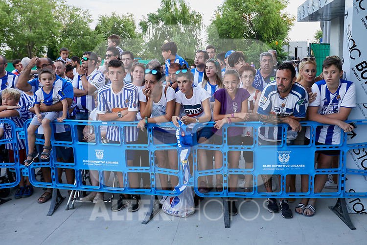 Leganes' supporters before La Liga match. August 24, 2018. (ALTERPHOTOS/A. Perez Meca)