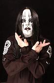 (#1) Joey Jordison – drums , Slipknot Studio Portrait Session .In Desmoines Iowa in 2001.Photo Credit: Eddie Malluk/Atlas Icons.com