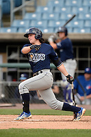 Jonathan India (5) of America Heritage School (5) of Delray in Coral Springs, Florida playing for the Tampa Bay Rays scout team during the East Coast Pro Showcase on July 30, 2014 at NBT Bank Stadium in Syracuse, New York.  (Mike Janes/Four Seam Images)