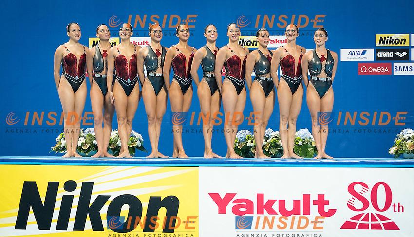 BRA - Brazil<br /> BRUNO Maria COUTINHO Maria<br /> DAMICO Juliana FERES Beatriz<br /> FERES Branca LOWY Sabrine<br /> MOLINOS Lorena NOGUEIRA Pamela<br /> STEPHAN Giovana TEIXEIRA Lara<br /> Day 9 01/08/2015<br /> XVI FINA World Championships Aquatics<br /> Synchro<br /> Kazan Tatarstan RUS July 24 - Aug. 9 2015 <br /> Photo Giorgio Scala/Deepbluemedia/Insidefoto