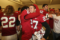 1 December 2007: Nick Sanchez and Jay Ottovegio during Stanford's 20-13 win over California in the 110th Big Game at Stanford Stadium in Stanford, CA. Stanford leads the rivalry series over California, 55-44-11.