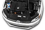 High angle engine detail of a  <br /> 2011 Volkswagen Jetta S Sedan