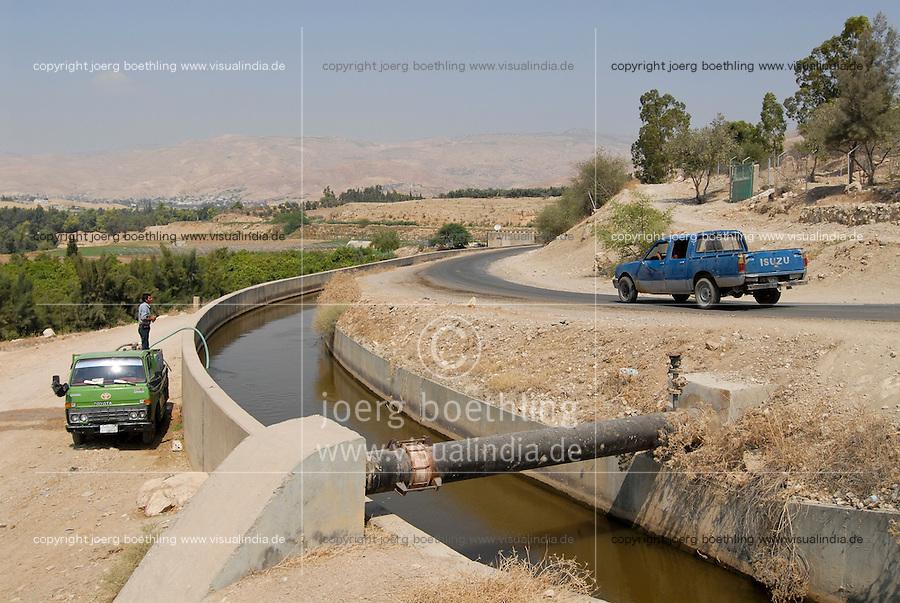 JORDAN, water shortage and agriculture in the Jordan valley , use of sewage water for irrigation of farms / JORDANIEN Wassermangel und Landwirtschaft im Jordan Tal, Nutzung von Abwasser zur Bewaesserung