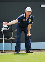 16-06-13, Netherlands, Rosmalen,  Autotron, Tennis, Topshelf Open 2013, First round,  Umpire<br />