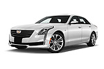 Stock pictures of low aggressive front three quarter view of 2019 Cadillac CT6 Luxury 4 Door Sedan Low Aggressive