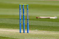 The LV stumps in position during Essex CCC vs Worcestershire CCC, LV Insurance County Championship Group 1 Cricket at The Cloudfm County Ground on 8th April 2021