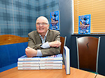 """08.06.2021 Launch of new Rangers book """"Just Champion"""" at Mr Singh's, Glasgow: John Gilligan back in the same seat in the restaurant he sat at with Dave King and Paul Murray as they gained control of the club at the AGM the following day"""