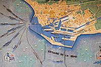 Europe/France/Normandie/76/Seine Maritime/ Le Havre :  La Gare sNCF - Mosaïque d'après un carton de Jacques Simon, « La ville et le port du Havre »