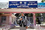 6 June 2013, Mazar-i-Sharif, Afghanistan.  Strengthening Higher Education Program (SHEP) co-ordinator Pashton Sharara at the entrance to Balkh University in Mazar-i-Sharif. Many of the facilities and equipment at the University are being provided under the World Bank funded Strengthening Higher Education Program ( SHEP). The objective of the program is to restore basic operational performance at a group of core universities in Afghanistan. It aims to act as a catalyst to attract resources at Afghan tertiary education in the long term. SHEP is the first major education investment in Afghanistan by the World Bank. In 2008 it received $US 5 million from ARTF to expand infrastructure and equipment to Universities in Kabul, Nangarhar , Balkh and Kandahar.  Picture by Graham Crouch/World Bank