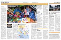 Helsingin Sanomat (leading Finnish daily) on refugees stuck at the Hungarian-Serbian border, August 2016<br /> Photos: Szilárd Vörös
