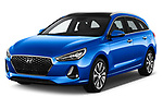 2018 Hyundai i30 Sky 5 Door Wagon angular front stock photos of front three quarter view