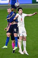 11th July 2021; Wembley Stadium, London, England; 2020 European Football Championships Final England versus Italy; Federico Bernardeschi loses the header to Harry Maguire