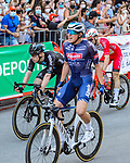 Jasper Philipsen (BEL) Alpecin-Fenix wins Stage 5 of La Vuelta d'Espana 2021, running 184.4km from Tarancón to Albacete, Spain. 18th August 2021.    <br /> Picture: Cxcling   Cyclefile<br /> <br /> All photos usage must carry mandatory copyright credit (© Cyclefile   Cxcling)