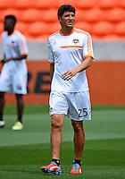 April 28, 2013: Houston Dynamo forward Brian Ching #25 warm up before Major League Soccer match in Houston  TX. Houston Dynamo draw 1-1 against Colorado Rapids.