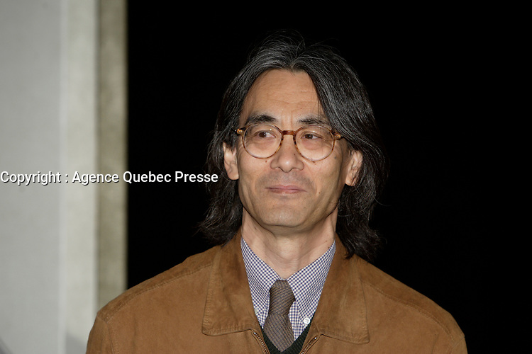 Montreal (Qc) CANADA - April 3, 2008 -<br /> <br /> Mario Labbe, President ANALEKTA (L) and Maestro Kent Nagano (R) launch the first recording of the Montreal Symphonic Orchestra directed by Nagano. <br /> <br /> The album recorded by Analekta and distributed worlwide by Sony feature work from Beethoven.<br /> <br /> Photo (c)  Images Distribution