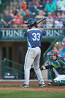 Dayton Dugas (33) of the West Michigan Whitecaps at bat against the Fort Wayne TinCaps at Parkview Field on August 5, 2019 in Fort Wayne, Indiana. The TinCaps defeated the Whitecaps 9-3. (Brian Westerholt/Four Seam Images)