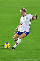 18th February 2021, Orlando, Florida, USA;  United States defender Abby Dahlkemper (7) kicks the ball during a SheBelieves Cup game between Canada and the United States on February 18, 2021 at Exploria Stadium in Orlando, FL.