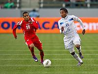 CARSON, CA - March 23, 2012: Ever Alvarado (5) from Honduras during the Honduras vs Panama match at the Home Depot Center in Carson, California.