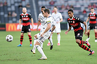 10th February 2021; Bankwest Stadium, Parramatta, New South Wales, Australia; A League Football, Western Sydney Wanderers versus Melbourne Victory; Leigh Broxham of Melbourne Victory clears the ball away from danger