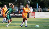 Rosana (orange), Amanda Cinalli..Saint Louis Athletica defeated Sky Blue F.C 1-0, at Anheuser-Busch Soccer Park, Fenton, MO.