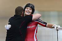 Olivia Podmore after finishing first in the Elite Women Sprint against Natasha Hansen <br /> during the 2020 Vantage Elite and U19 Track Cycling National Championships at the Avantidrome in Cambridge, New Zealand on Friday, 24 January 2020. ( Mandatory Photo Credit: Dianne Manson )
