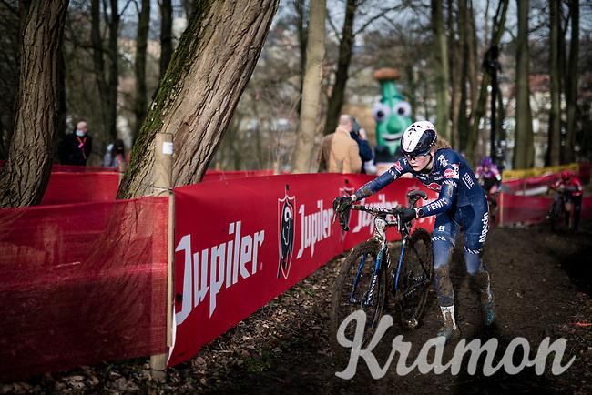 Puck Pieterse (NED/Alpecin-Fenix)<br /> <br /> 2021 UCI CX World Cup Overijse (BEL)<br /> Vlaamse Druivencross<br /> <br /> Women's Race<br /> <br /> ©kramon