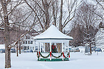 Christmas bandstand in Weston, VT, USA