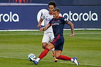 CHICAGO, UNITED STATES - AUGUST 25: Francisco Calvo #5 of Chicago Fire clears the ball during a game between FC Cincinnati and Chicago Fire at Soldier Field on August 25, 2020 in Chicago, Illinois.