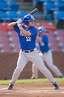 Jake Lemmerman #12 of the Duke Blue Devils at bat against the Wake Forest Demon Deacons at the Wake Forest Baseball Park April 23, 2010, in Winston-Salem, NC.  Photo by Brian Westerholt / Sports On Film