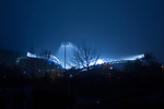 An external view of the John Smiths Stadium Huddersfield, during Huddersfield's 3-2 win over Middlesbrough on November 28th 2020. The match was played behind closed doors due to Coronavirus restrictions.