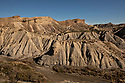 Spain - Andalusia - Panoramic view of the Tabernas Desert, where the Western movie sets are located.