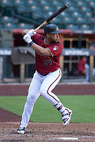 Arizona Diamondbacks outfielder Yasmany Tomas (24) at bat during a rehab assignment in an Instructional League game against the Kansas City Royals at Chase Field on October 14, 2017 in Phoenix, Arizona. (Zachary Lucy/Four Seam Images)