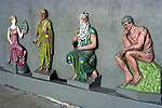 Sculpture wall relief on La Brea Ave in Hollywood.