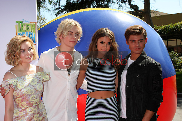 "Grace Phipps, Ross Lynch, Maia Mitchell, Garrett Clayton<br /> at the ""Teen Beach 2"" Premiere, Walt Disney Studios, Burbank, CA 06-22-15<br /> David Edwards/DailyCeleb.com 818-249-4998"