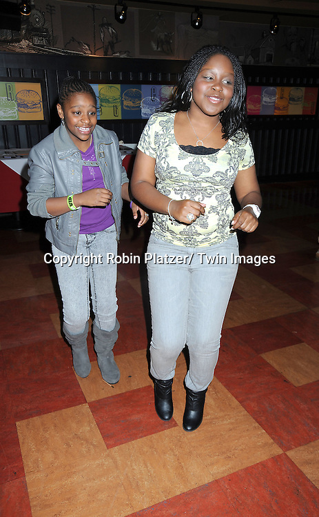 Shenell Edmonds and sister Deedee at the Shenell Edmonds Fan Club Dance Party  on October 10, 2010 at HB Burger in New York City.