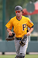 GCL Pirates catcher Joey Schoenfeld #27 during a game against the GCL Braves at Disney Wide World of Sports on June 25, 2011 in Kissimmee, Florida.  The Pirates defeated the Braves 5-4 in ten innings.  (Mike Janes/Four Seam Images)