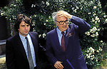 FEDERICO FELLINI CON ROBERT DE NIRO  A CINECITTA' 1977