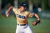 Wes Kath (10) during the WWBA World Championship at Terry Park on October 11, 2020 in Fort Myers, Florida.  Wes Kath, a resident of Scottsdale, Arkansasizona who attends Desert Mountain High School, is committed to Arizona State.  (Mike Janes/Four Seam Images)