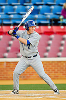 Hunter Bryant #7 of the UNC-Asheville Bulldogs at bat against the Wake Forest Demon Deacons at Wake Forest Baseball Park on February 28, 2012 in Winston-Salem, North Carolina.  The Demon Deacons defeated the Bulldogs 9-8.  (Brian Westerholt/Four Seam Images)
